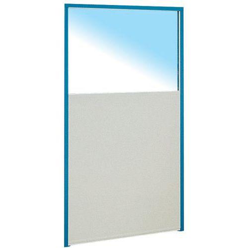 Cerramiento de tabique simple de melamina - Panel semiacristalado - Altura 1,70 m