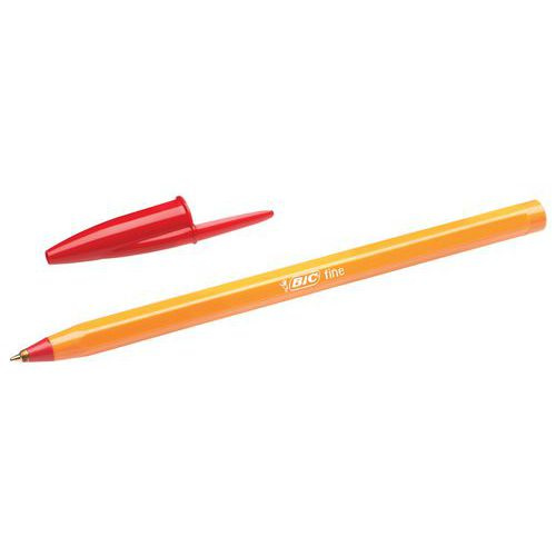 BiC Orange Bolígrafo de punta de bola  tinta roja 3 UNIDADES