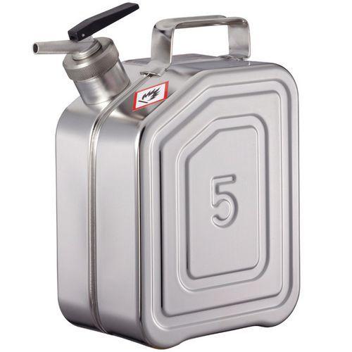 Bidón inoxidable - Capacidad de almacenamiento 5 L