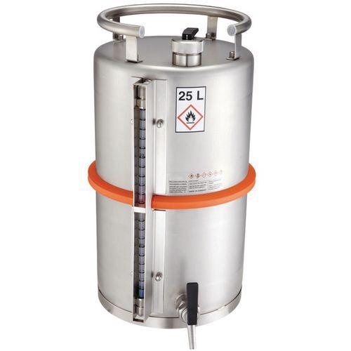 Bidón de almacenamiento de seguridad - Capacidad de almacenamiento 25 L