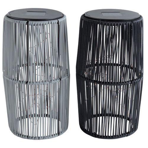Lámpara solar LED - Altura de 30,5 cm - Lote de 4