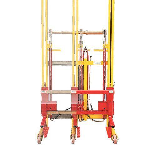 Apilador elevador de anchura ajustable - Carga 600 kg