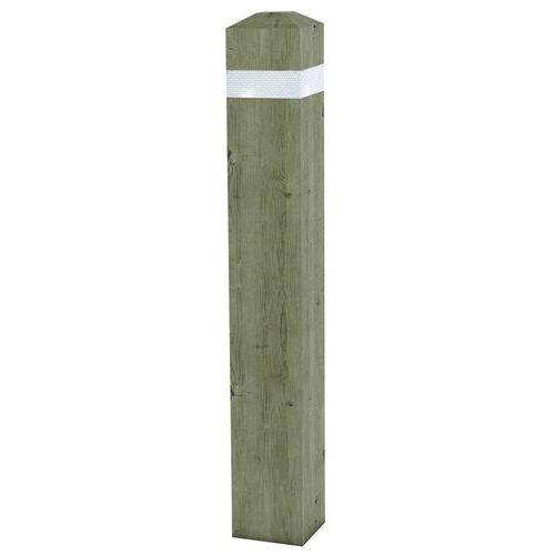 Poste de pino cuadrado retrorreflectante - Extraíble
