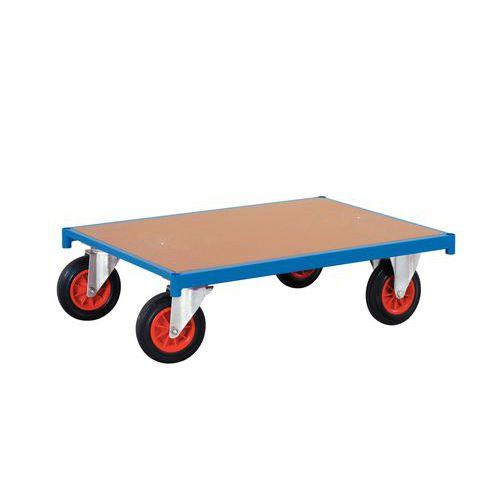 Plataforma rodante – Ruedas rectangulares – Capacidad: 500 kg
