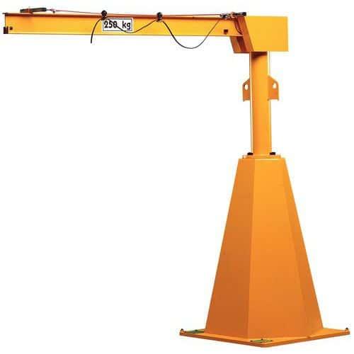 Grúa pivotante de columna con ángulo de giro de 360° - Carga 250 kg