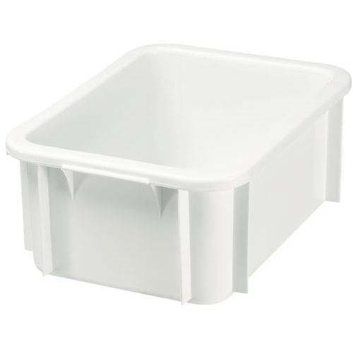 Caja rectangular apilable - Longitud 400 mm - De 12 L a 15 L