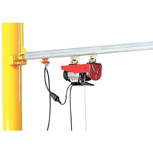 Cable de alimentación para grúa pivotante de pared con pluma triangular