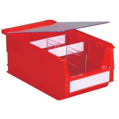 Tapa para caja de compartimentación múltiple