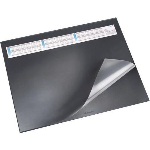 Carpeta de escritorio con solapa transparente 40 x 53cm Negra