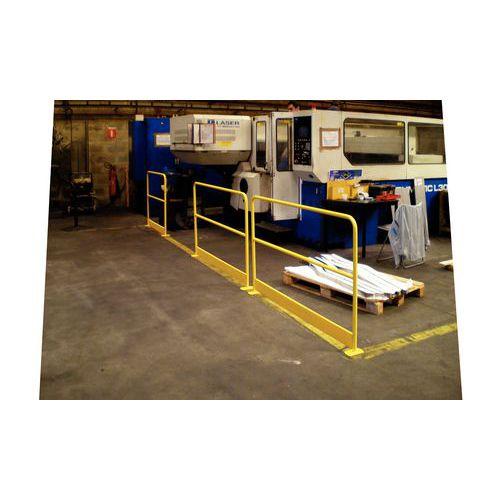 Barrera de protección con zócalo - Amarillo RAL 1023