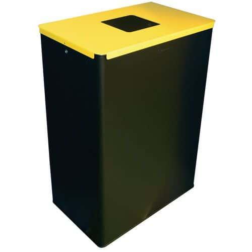 Cubo de basura de clasificación - Desechos de vidrio - 60 L - Manutan