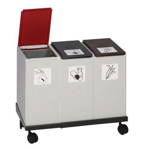 Base móvil para sistema de reciclaje de plástico