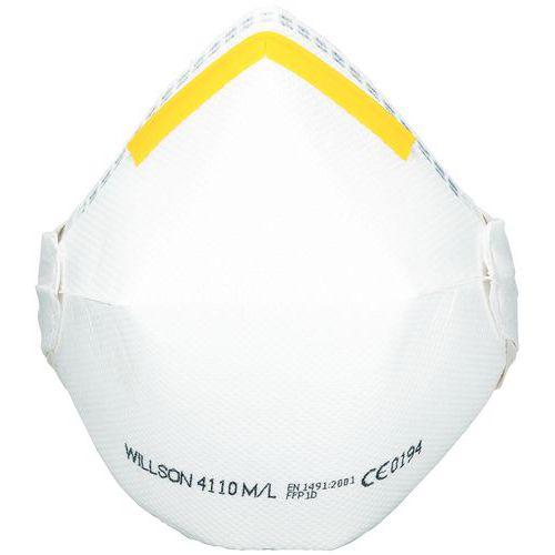 Mascarilla respiratoria plegable de uso único