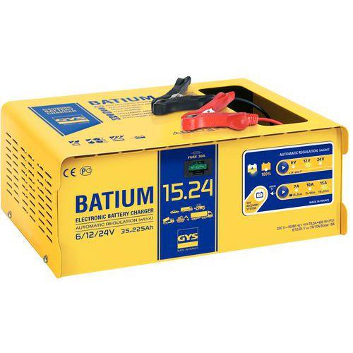 Cargador de batería automático con microprocesador 6/12/24 V - Gys