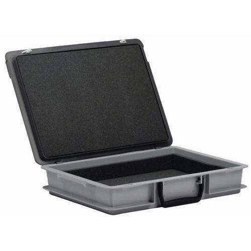 Caja-maletín Rako con tapa - Interior de espuma - 400 mm de longitud