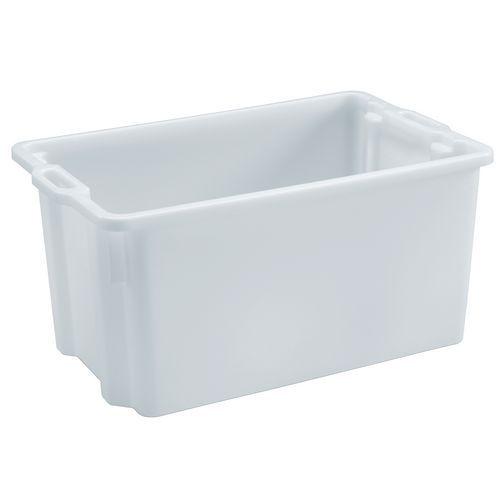 Caja rectangular apilable y encajable - Longitud de 550 mm a 720 mm - De 50 L a 90 L