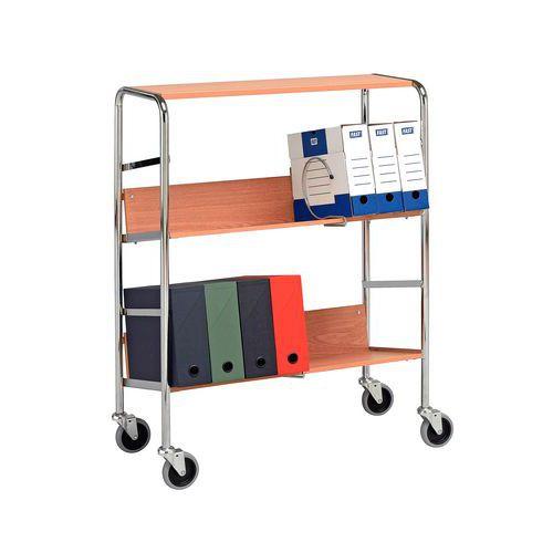 Carro para cajas de archivos - 3 niveles - Carga 75 kg