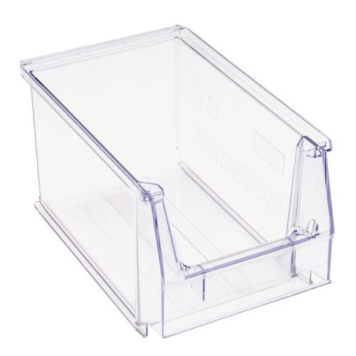 Caja con abertura frontal apilable- Longitud 230 mm - 3,8 L