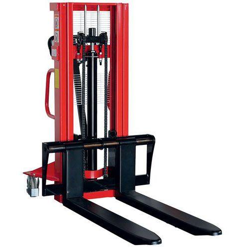 Apilador manual de gran altura - Horquilla 1150 mm - Capacidad 1000 kg