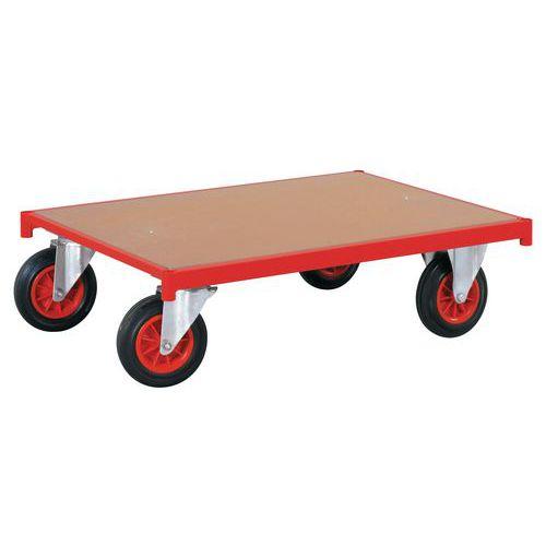 Plataforma rodante de madera - Ruedas en disposición rectangular - Capacidad 500kg - FIMM