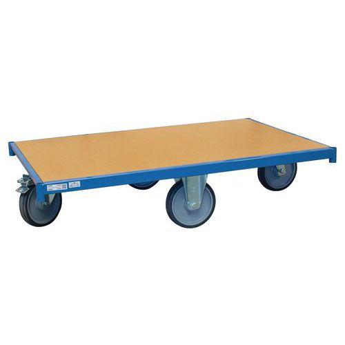 Plataforma rodante de madera - Ruedas en rombos - Capacidad 500kg - FIMM