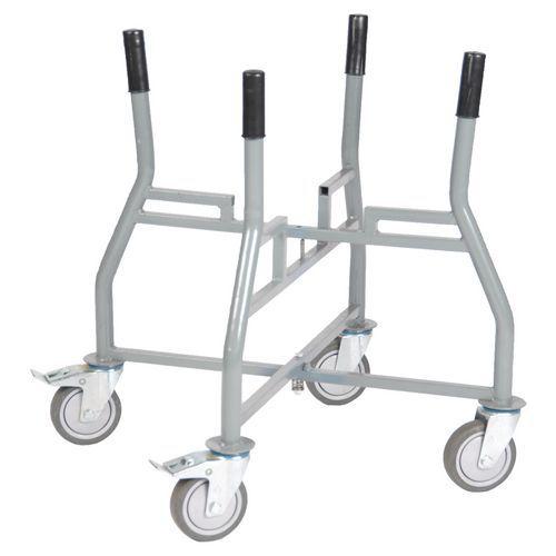 Sujetacubos de obra plegable 65/90litros - Capacidad 250kg