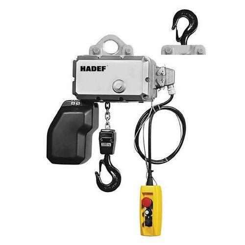 Polipasto eléctrico de gancho fijo, 2 ramales - Capacidad para 250 kg