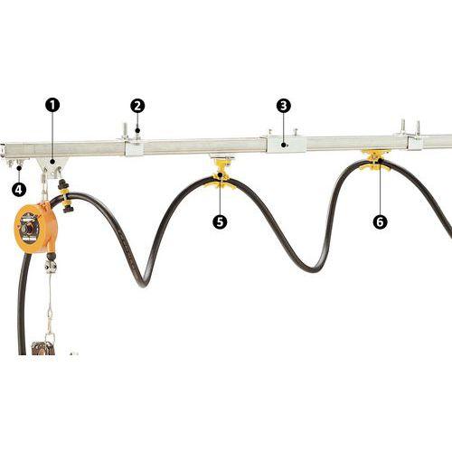 Monorraíl para polipasto eléctrico - Capacidad 50 kg