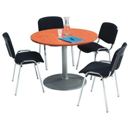 Conjunto para reuniones con mesa redonda for Mesa de reuniones