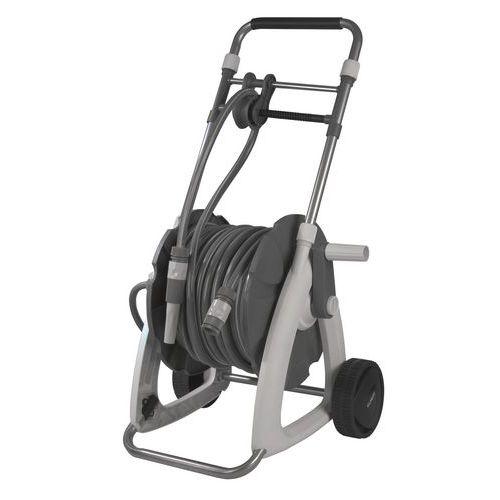 Enrollador de manguera portátil con empuñadura ergonómica - 22m - Eurom
