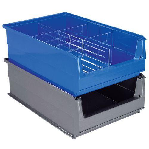 Caja con abertura frontal de compartimentación múltiple - Longitud 500 mm - 21 L