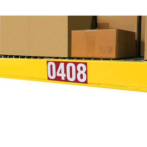 Números autoadhesivos - Negro-amarillo - 50 x 50 mm