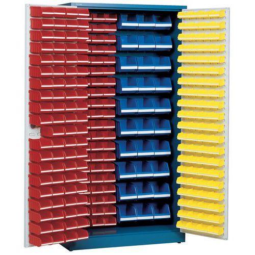 Armario con 273 cajas con abertura frontal - Alto - Con puertas preparadas