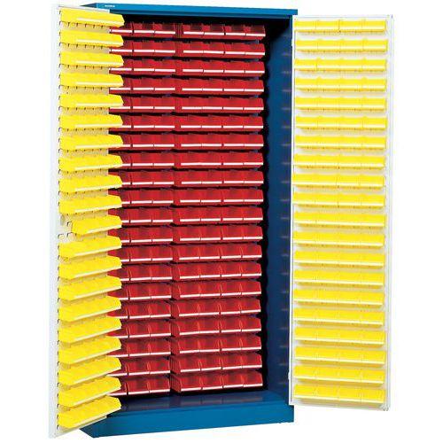 Armario con 320 cajas con abertura frontal - Alto - Con puertas preparadas