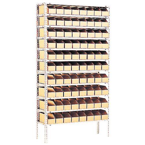 Organización con cajas cajas abertura frontal de cartón