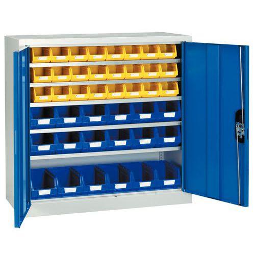 Armario estándar con cajas con abertura frontal Kangourou - Bajo - Puertas sencillas