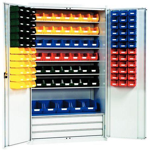 Armario reforzado con cajas con abertura frontal Kangourou - Alto - Puertas acondicionadas