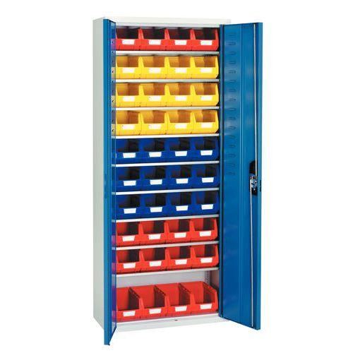 Armario estándar con cajas con abertura frontal Kangourou - Mediano - Puertas sencillas