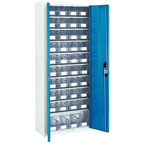 Armario con cajas con abertura frontal transparentes - Mediano - Con puertas