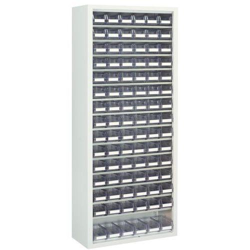 Armario con cajas con abertura frontal transparentes - Mediano - Sin puertas
