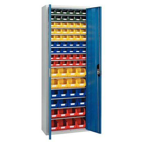Armario estándar equipado con cajas con abertura frontal Kangourou - Alto - Puertas sencillas