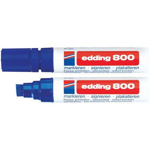Marcador permanente Edding 800 - Punta biselada