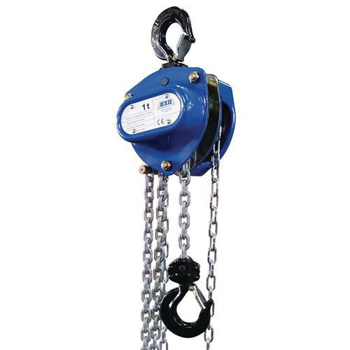 Polipasto manual con cadena - Capacidad de 250kg a 5000kg - EXO