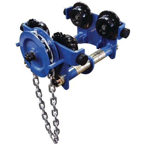 Carro portapolipastos con cadena de maniobra electrogalvanizada - Capacidad de 500kg a 5000kg