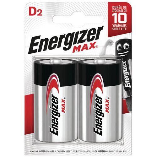 Pila Max D - Lote de 2 - Energizer
