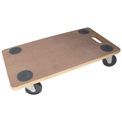 Plataforma rodante de madera - Acabado en bruto - Carga 200 kg