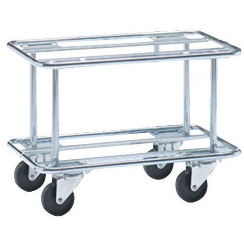 Plataforma rodante alta hilo de acero - Para cajas de norma europea - Capacidad 300 kg