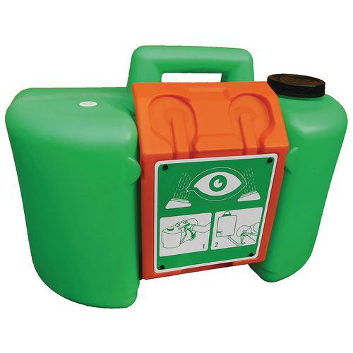 Estación de lavado de ojos autónoma y portátil 34 litros