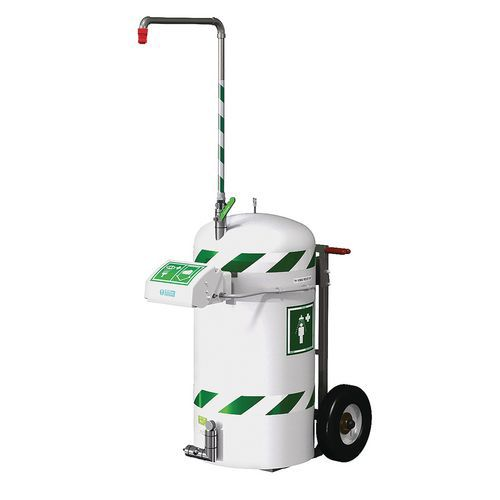 Ducha de seguridad autónoma y móvil 114 litros - Hughes