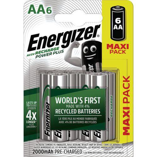Pila Power Plus AA precargada - 2000 mAh - Lote de 6 - Energizer